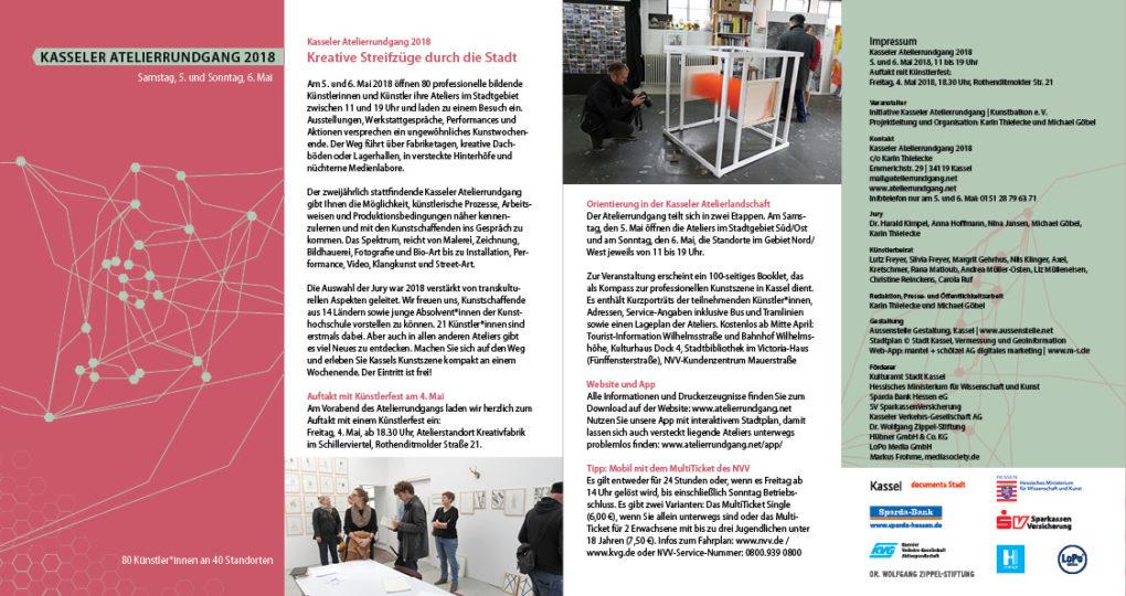 Leporello zum Kasseler Atelierrundgang 2018